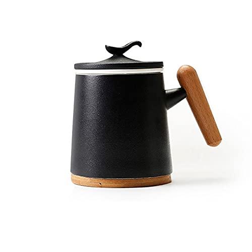 XinLuMing Taza de té con Tapa y tamiz Ciudad de té Suave Taza de Taza China Japón Zen Cup 2pcs (Color : B)