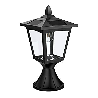 Solar Post Lights Outdoor, Solar Lamp Post Lights for Pathway, Driveway, Front/Back Door, Pack 1