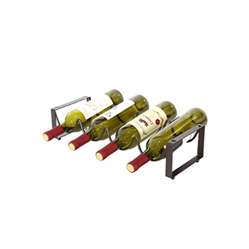 Estante para Vino Botelleros Wine Rack Vino Bastidores autoportante apilable Estante del vino for la barra casera Cava Cueva gabinete despensa para Bares Restaurantes Cocinas ( Size : 4 bottles )