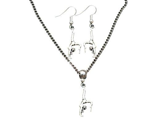 Collection Gymnastik-Schmuck-Set für Mädchen, Gymnastik-Halskette und Gymnastik-Ohrringe Turner