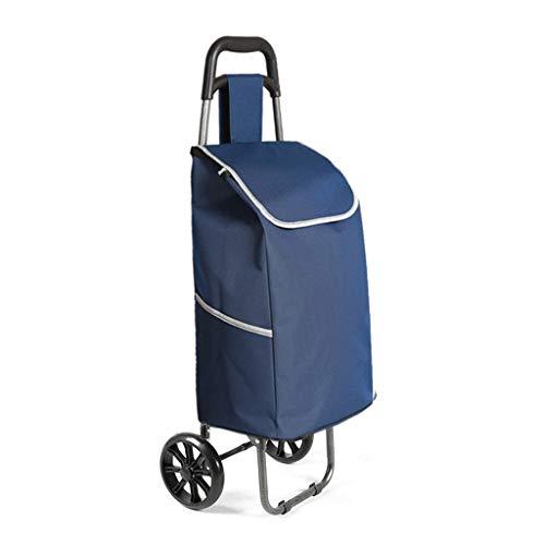 YAYA Draagbaar winkelmandje kleine handwagen vouwtrolley voor wasmachine, supermarkten, boodschappen met wielen, multifunctionele wagen
