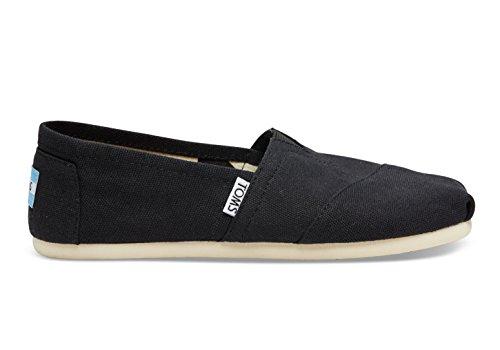 TOMS Lenox Chambray Zapatillas de mujer con textura US10, color negro