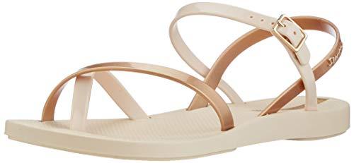 Ipanema Damen Fashion Sand VIII FEM Sandale, beige/Gold, 41/42 EU