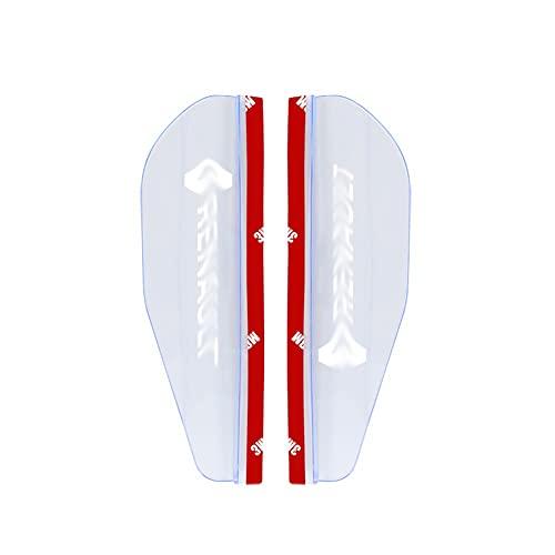 YinAn Accesorios de decoración 2 unids Coche Lateral retrovisor Espejo Rain Cebolla Auto Lluvia Escudo R-E-N-A-U-L-T Pegatinas Auto Side Espejo Sol Shield Shade (Color : Transparent)