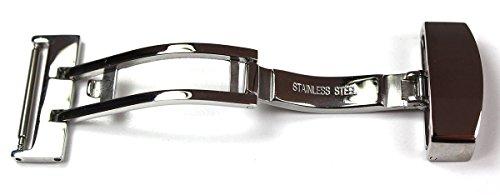 Sulla 18mm eenzijdig gepolijste vouwsluiting van roestvrij staal voor leren horlogebandje band