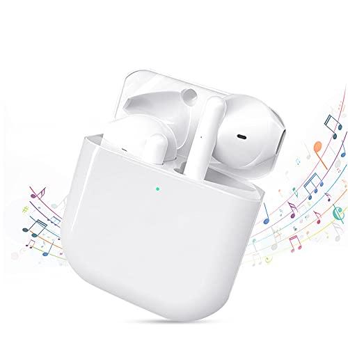 Cuffie Wireless Bluetooth 5.0,Auricolari con IPX4 Impermeabile,Earbuds In-ear Controllati Al Tocco,Cuffiette che Possono Durare per 8 Ore,Cuffie con Microfono Incorporato per iPhone/Android/Xiaomi