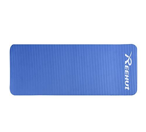REEHUT Colchonetas de Pilates, Almohadilla de Yoga para Rodillas o Codos - Cojín de con Grosor de 15 mm - Evita el Dolor Durante Fitness(Azul)