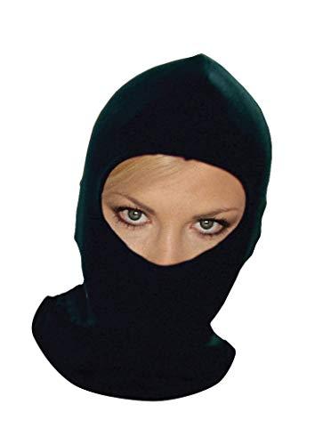 Thermisch synthetisch zijde zwart balaklava onder helm bescherming