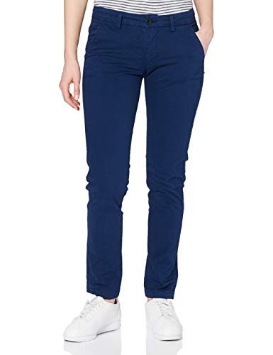 Seven7 Damen Chino Straight Jeans, Blau (Middle Blue 001), 50 (Herstellergröße: 33/30)