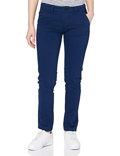 Seven7 Damen Chino Straight Jeans, Blau (Middle Blue 001), 44 (Herstellergröße: 31/30)