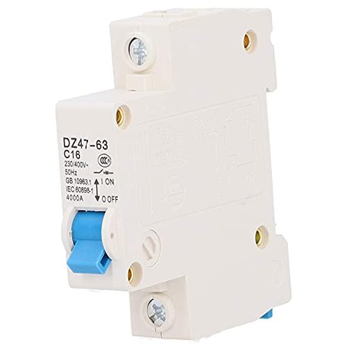 Disyuntor en miniatura DZ47-63 de 12 piezas, interruptor de fuga de montaje en riel DIN de 220 V 1 P