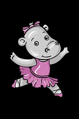 Ballerina Hippo: 6x9 Ruled Notebook, Journal, Daily Diary, Organizer, Planner