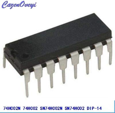 10 unids/lote 74HC02N 74HC02 SN74HC02N SN74HC02 DIP-14 Puertas lógicas QUAD 2-INPUT NOR GATE nuevo original