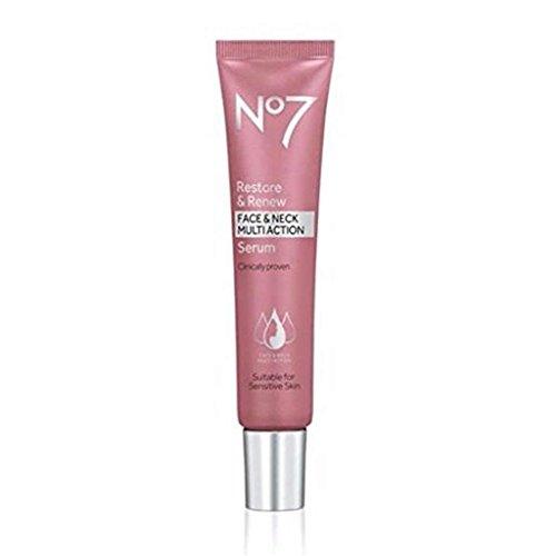 Boots No 7 Restore & Renew Face & Neck MULTI ACTION Serum, 30 ml