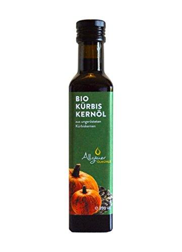 Bio Kürbiskernöl ungeröstet, kalt gepresst, 250 ml