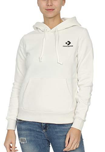Converse 10008819 Star Chevron PO - Sudadera con Capucha para Mujer, Color Blanco