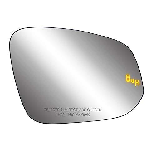 Passenger Side Heated Mirror Glass w/Backing Plate, Toyota 4Runner, RAV4 (Japan & US Built), Tacoma RAV4 (US Built) Blind Spot Detection System, w/o spot Mirror