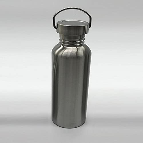 Botella de agua portátil de acero inoxidable con asa 1000ml / 500ml / 350ml Frascos deportivos Viajes Ciclismo Senderismo Camping Botella BPA Free-China, 750ml, botella con tapa inoxidable