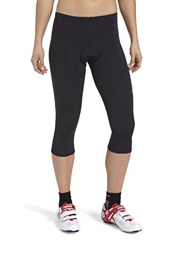 GONSO 3/4 Radhose Lusaka aus 80% PA 20% EL für Damen, gepolsterte Fahrradhose/ Bermuda/ Shorts mit Gummibund, formbeständig