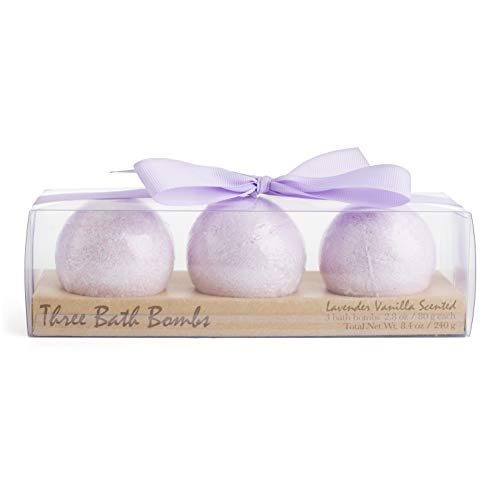 Charming Charlie Bath Bomb Fizzies Set - Body Care Essentials, At-Home Spa Collection - Lavender Vanilla Scents, Pack of 3