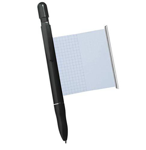 Kugelschreiber mit Spickzettel schwarz - Made in Germany