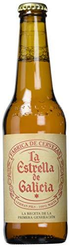 Estrella Galicia La Estrella de Galicia Cerveza - Pack de 24 botellas x 33 cl