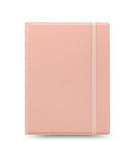 Filofax A5-Notizbuch, nachfüllbar, liniert Pastellpfirsichfarbend