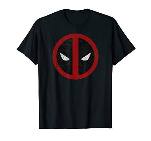 Marvel Deadpool Mask Classic Distressed Graphic T-Shirt T-Shirt