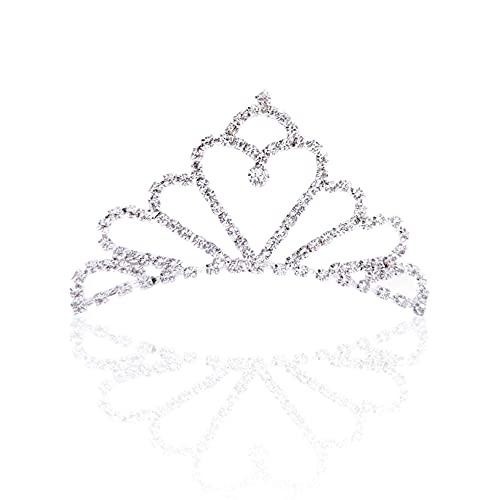 Amindz 2 Piezas Rhinestone Diadema para Boda,Diamante Princesa Tiara con Peine,Tiara Crown...