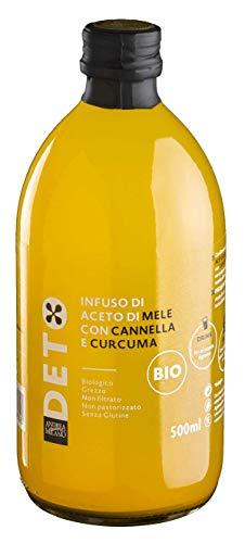 Infuso di Aceto Di Mele Biologico con Curcuma e Cannella Non Filtrato Non Pastorizzato - 500 ml