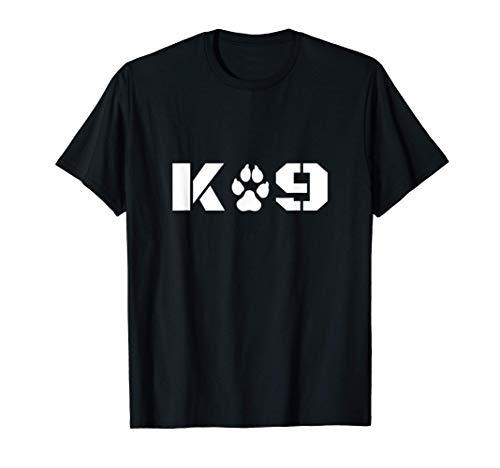 K-9 Officer Canine K9 Unit Police Dog Paw Handler Trainer T-Shirt