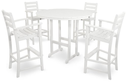 Trex Outdoor Furniture TXS119-1-CW Monterey Bay 5-Piece Bar Set
