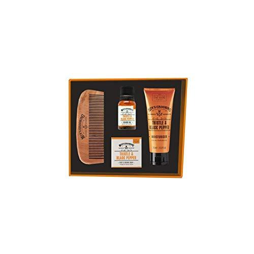 SCOTTISH FINE SOAPS cardo y pimienta negra ROSTRO Y BARBA Kit de cuidado
