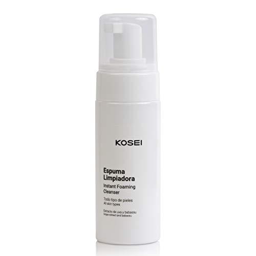 Kosei - Espuma Limpiadora Facial - 150 ml - Desmaquillante en Mousse - Para todo Tipo de Pieles - Efecto Antioxidante - No Irrita - Sin Jabón - Sin Alcohol - Sin Siliconas - Vegano