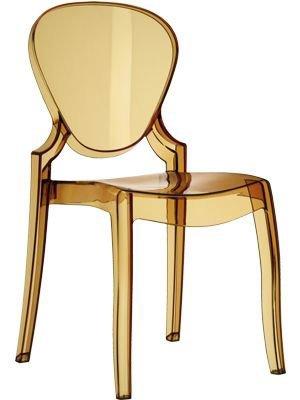 Pedrali Set 4 Queen 650 Ambra Trasparente