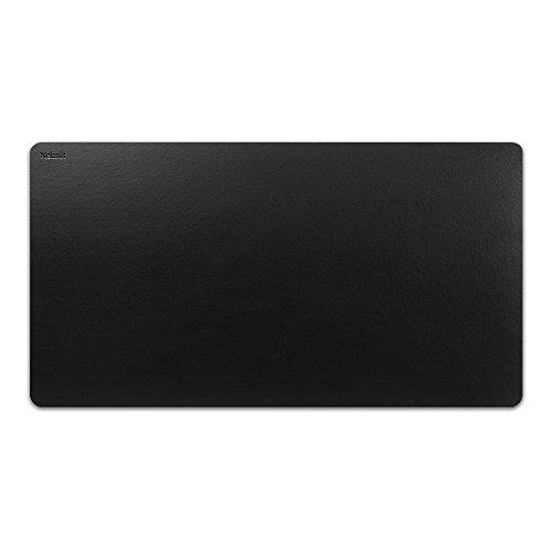 Nekmit Leather Desk Blotter Pad 34 x 17 Inches Flat Non-Slip Waterproof Black
