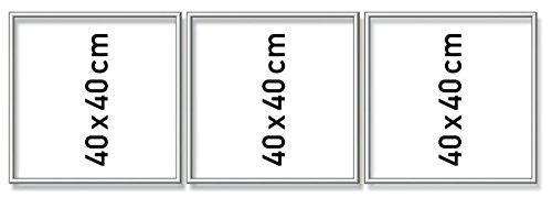 Schipper 605270766 Malen nach Zahlen, Alurahmen Triptychon, 120 x 40 cm, silber matt ohne Glas für Ihr Kunstwerk, einfache Selbstmontage