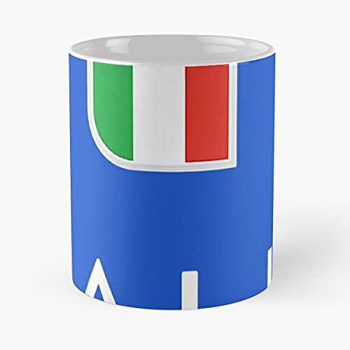 Italia Jersey Soccer 2021 Italia Euro Gift - Mejor taza de café de cerámica blanca de 11 onzas