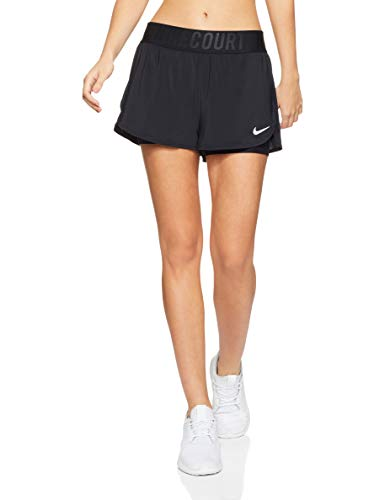 Nike Damen Dry Ace Shorts, Black/(White), L