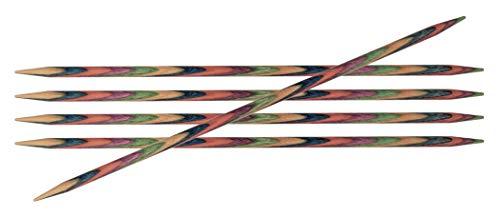 KnitPro Symfonie - Ferri Doppia Punta in Legno, 4,5 mm, 20 cm