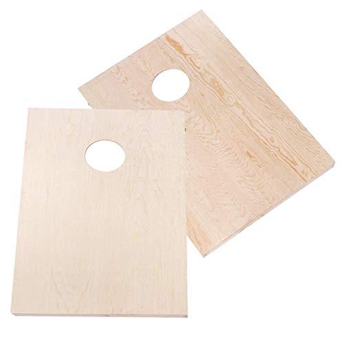 Zitzak Toss Tafelspellen Grenen houten frame + multiplex 4 rode + 4 blauwe zitzakken Gemakkelijk draagbaar Zitzak Toss tafelbladset`` voor buiten, voor vakantieweekenden