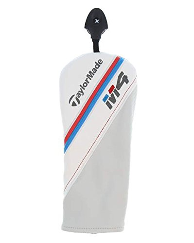 TaylorMade 2018 M4 Fairway Wood Headcover W/Adjustable Tag White/Red/Blue