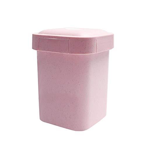 Motivbackformen Backformsets Kuchenringe 550Ml Gesundes Material Weizenstroh Versiegelte Suppenbecher Mit Deckel Tragbare Brotdose Mini Bento Box Mikrowelle Getränkebecher Für Haferbrei, Pink