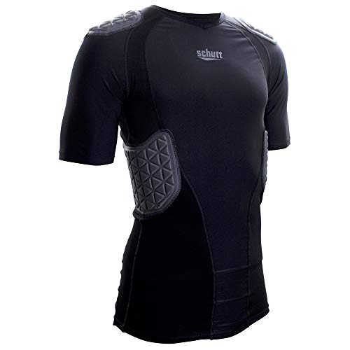 Schutt Sports ProTech Padded Football Shirt, Black, Varsity