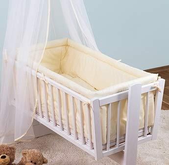 Kinderbett rund Gepolsterte Bumper Passend zu Regular 90 x 40 cm Kinderbett/Wiege (Creme)