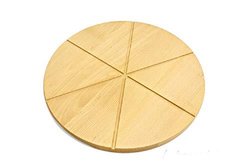 Tagliere rotondo in legno per pizza in legno massiccio da 35 cm