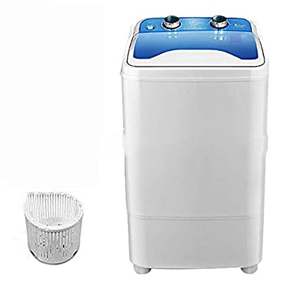FDY Portable Single-Tub Washing Machine Mini - 7 Kg Washing Capacity with Drain Basket Washing Power 400W for Apartments, Camping, Dorm Room,Blue