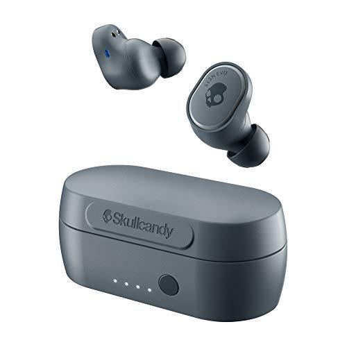 Skullcandy Sesh Evo True - Auriculares inalámbricos con tecnología Bluetooth, resistentes al sudor, al agua y al polvo (IP55), 24 horas de duración de la batería, color gris