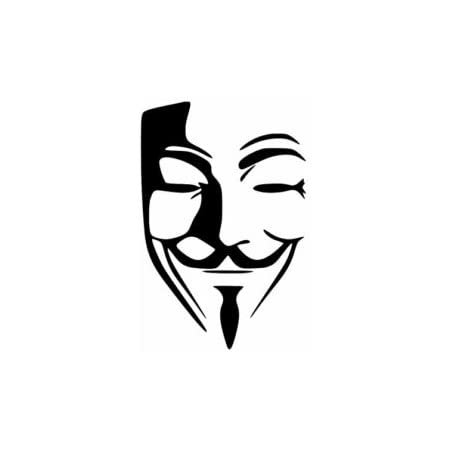 etc.-XS | Brilliant Blue Color Material Guy Fox Revolutionary Anonymous Mask Stencil Best Vinyl Large Stencils for Painting on Wood Wall Canvas 7 x 11