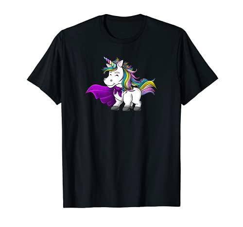 Unicornio niña superhéroe regalo amor impresionante divertido Camiseta